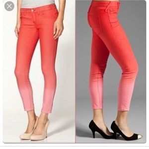 FREE PEOPLE Ombre Pink Skinny Jeans